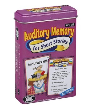 Super Duper Publications | Auditory Memory for Short Stories Fun Deck