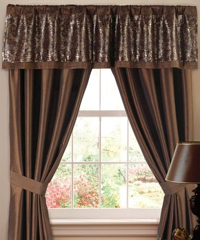Duck River Textile | Taupe Kyra Trellis Blackout Curtain Panel - Set of Two