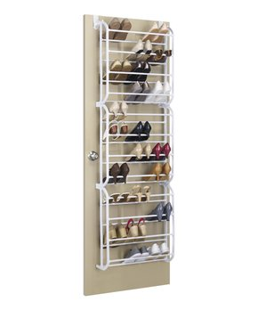 Whitmor | White 36-Pair Shoe Rack
