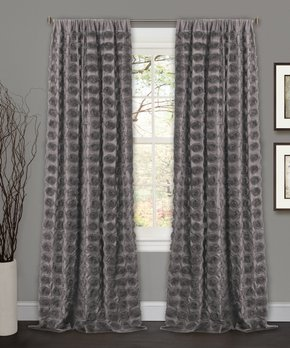 Lush Décor | Light Gray Insulated Blackout Curtain Panel - Set of Two