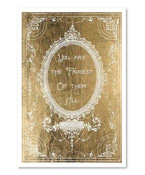 Oliver Gal | The Fairest Gold Print