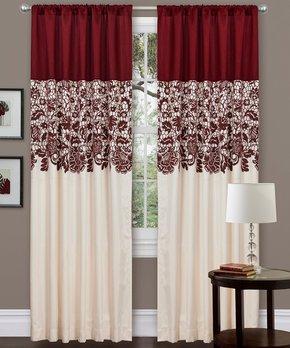 Lush Décor | Red Estate Garden Curtain Panel