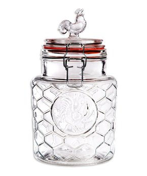 Home Essentials and Beyond | 11'' Glass Rooster Canister