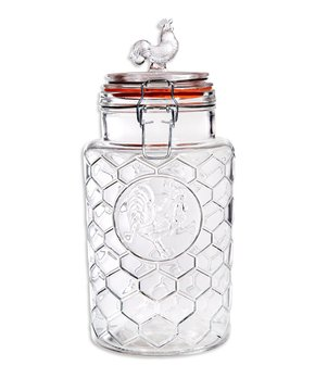 Home Essentials and Beyond | 7.25'' Glass Rooster Canister