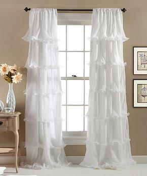 Lush Décor | White Gabrielle Curtain Panel