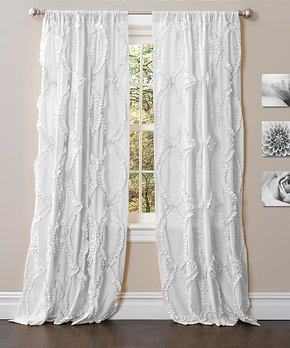 Lush Décor | Ivory Tassel Curtain Panel - Set of Two