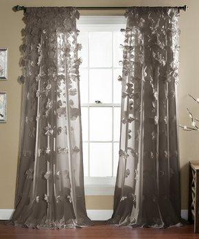 Lush Décor | Blue & Chocolate Marissa Curtain Panel - Set of Two