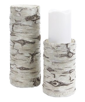 Melrose | Birch Candleholder Set