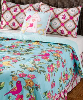43f609a1a5 all gone. Rizzy Home | Blue Birds in Paradise Quilt Set