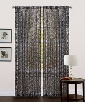 Duck River Textile | Taupe & White Helen Three-Piece Curtain Panel Set