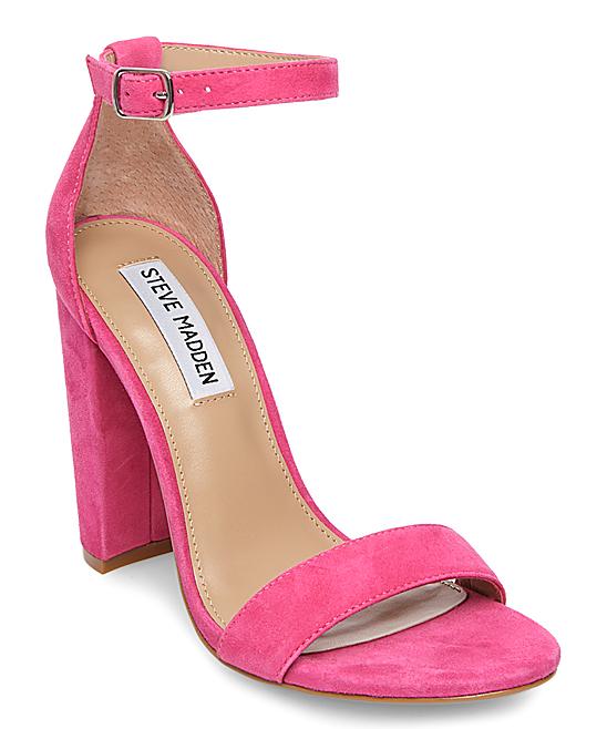 a5ffe7bd657 Steve Madden Hot Pink Carrson Ankle-Strap Suede Sandal - Women