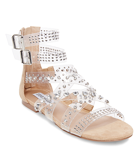 2100965b419 Steve Madden Clear Shift Embellished-Strap Gladiator Sandal - Women