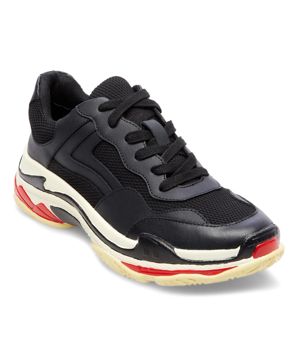 5b8bf3bf561 Steve Madden Black Nassau Sneaker - Women