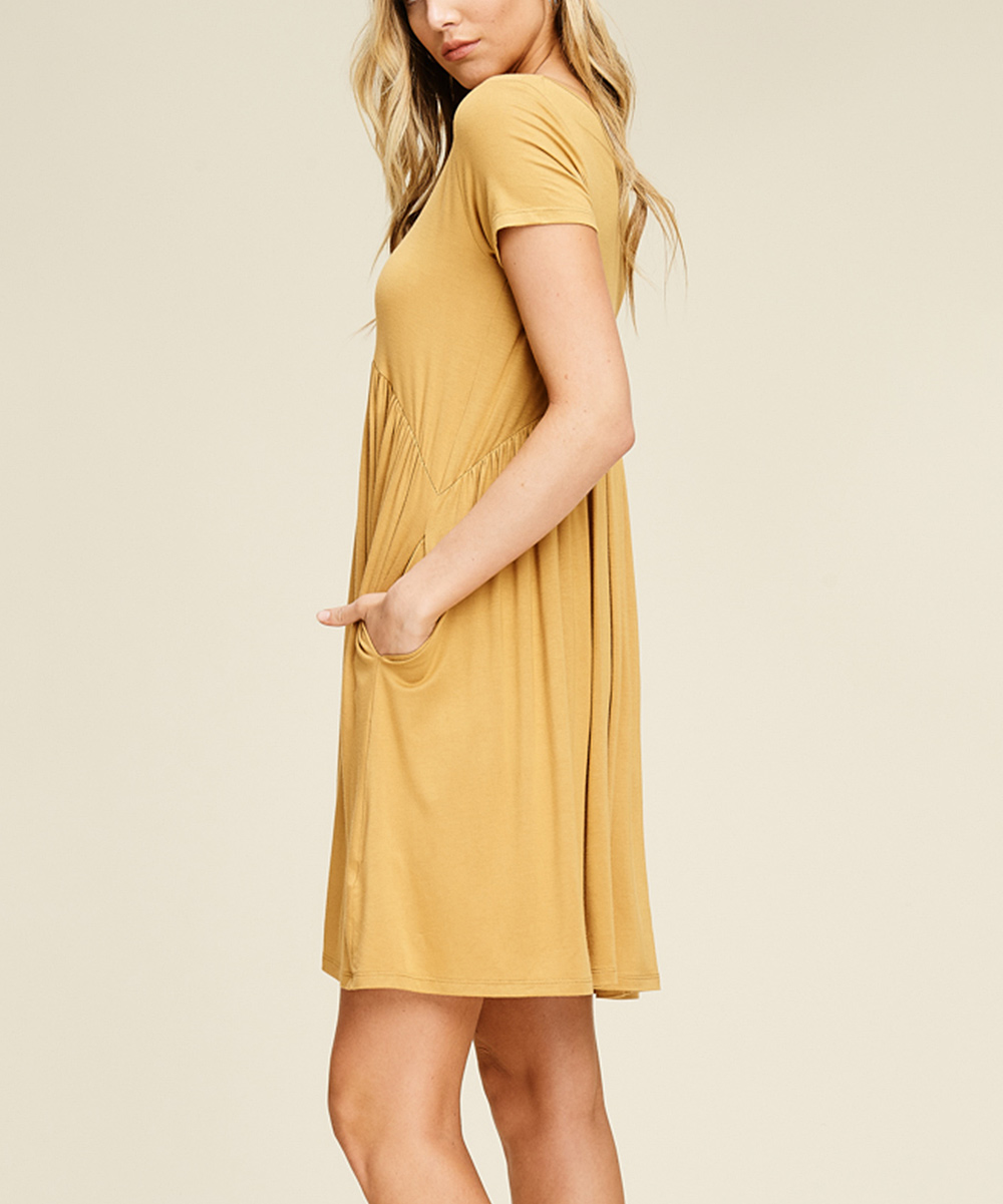 1ee5d614939f ... Womens BRONZE Bronze Side-Pocket Empire-Waist Dress - Alternate Image 2  ...