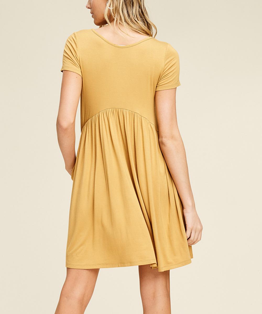 0381b5821e6b ... Womens BRONZE Bronze Side-Pocket Empire-Waist Dress - Alternate Image 3  ...