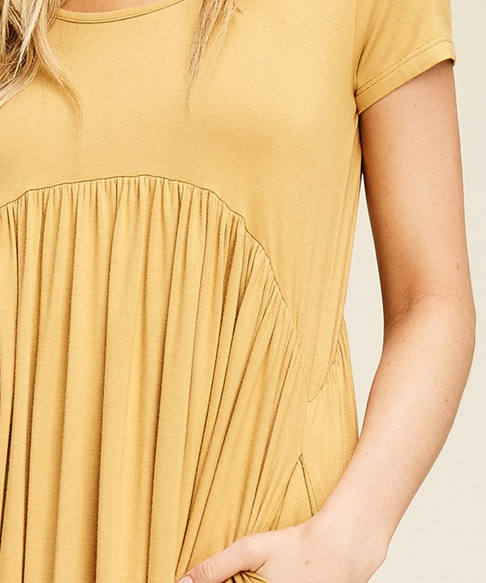 f71a4e71167a ... Womens BRONZE Bronze Side-Pocket Empire-Waist Dress - Alternate Image 4