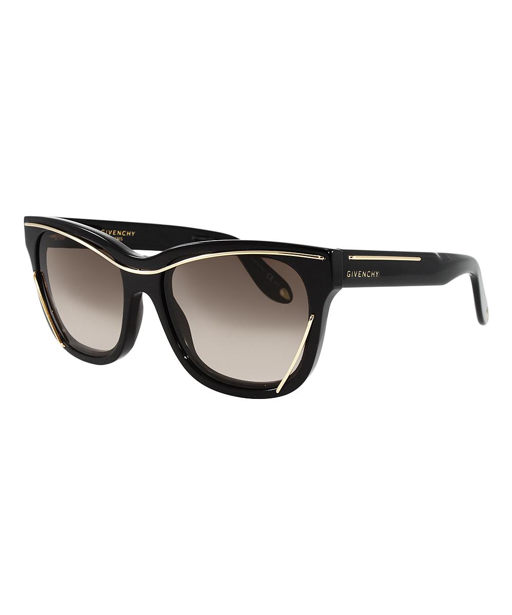 03c0e3fc2576 Givenchy Black, Gold & Dark Brown Gradient Cat-Eye Sunglasses   Zulily