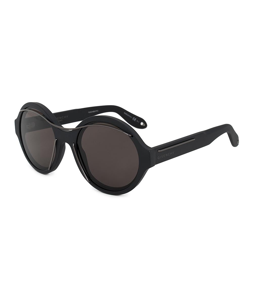 8a09de7a4 Givenchy Matte Black Thread Round Sunglasses   Zulily