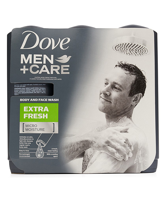 Dove 18 Oz Men Care Extra Fresh Body Face Wash Set Of Three Zulily