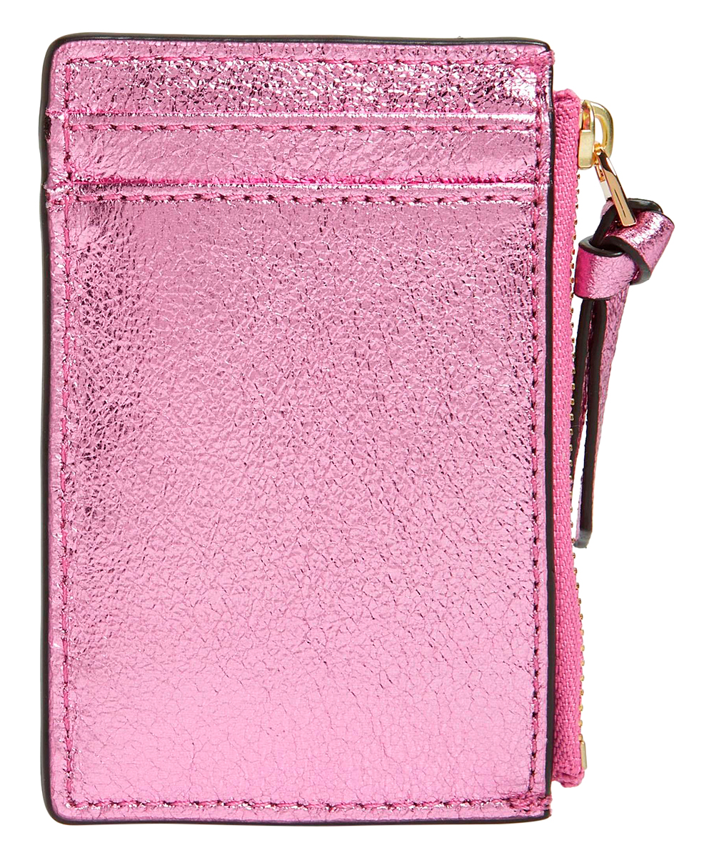 0100d1a7f0c8 Tory Burch Crinkle Metallic Zip Card Case
