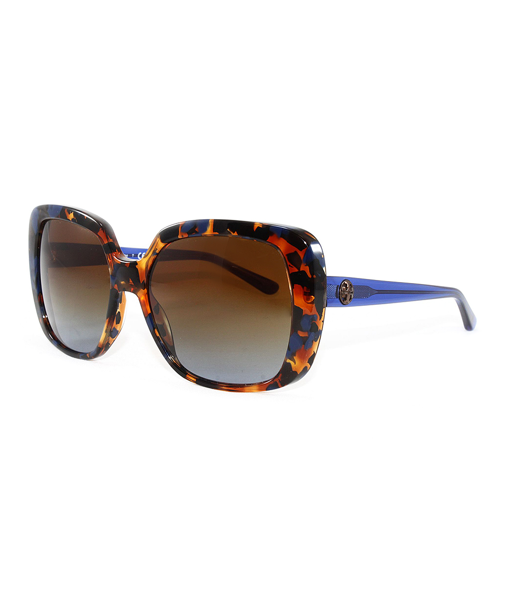 e385f6ab2860 Tory Burch Blue Flake Tortoise Oversize Sunglasses | Zulily