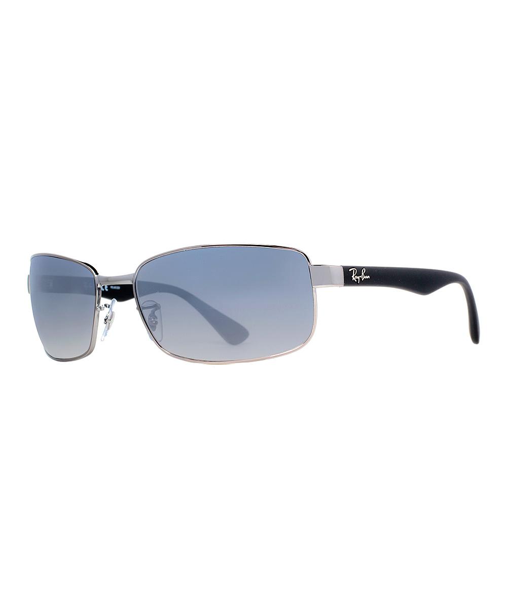 81cef0058b5 Ray-Ban Gunmetal   Green Classic G-15 Polarized Rectangle Sunglasses ...