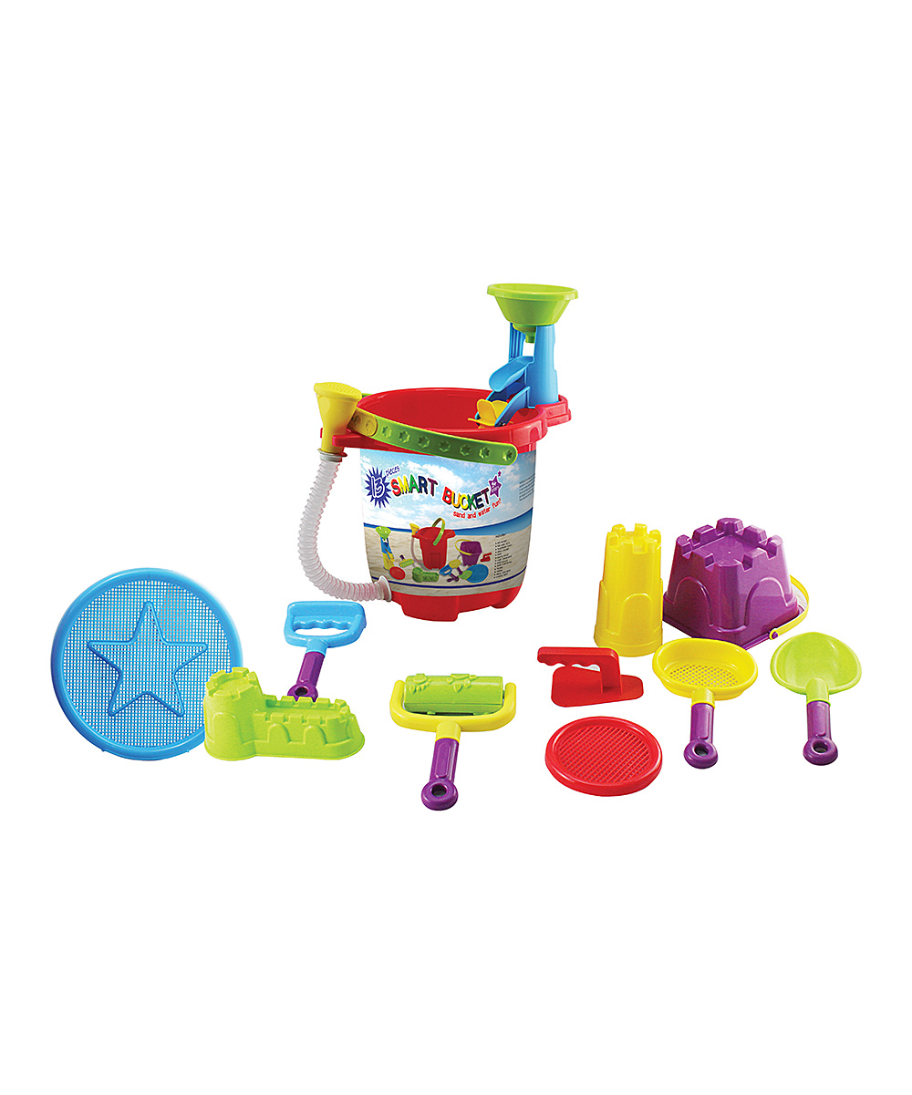 Small World Toys  Water toys  - 13-Piece Smart Bucket Set