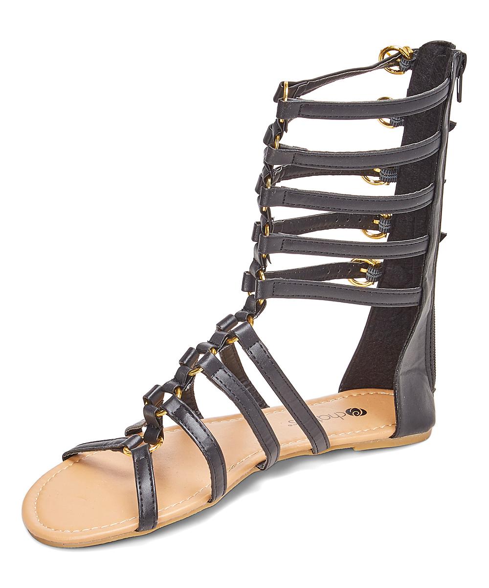 f7e4a8da979 ... Womens Black Black   Gold Five-Buckle Gladiator Sandal - Alternate  Image 2