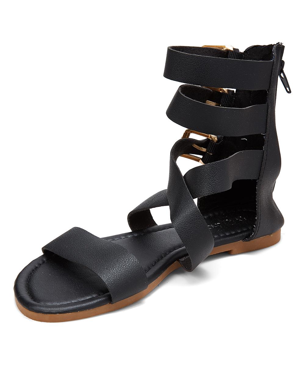 4bb3f8b4eb8 ... Womens Black Gold Black   Gold Buckle Gladiator Sandal - Alternate  Image 2