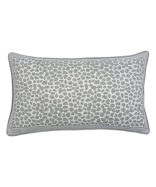 all gone. Pebble Grey Giraffe Block Print Lumbar Pillow 8831ba57ff