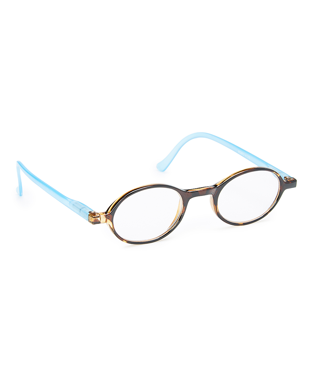Art Wear Women's Reading Glasses Blue - Blue Rounder Readers