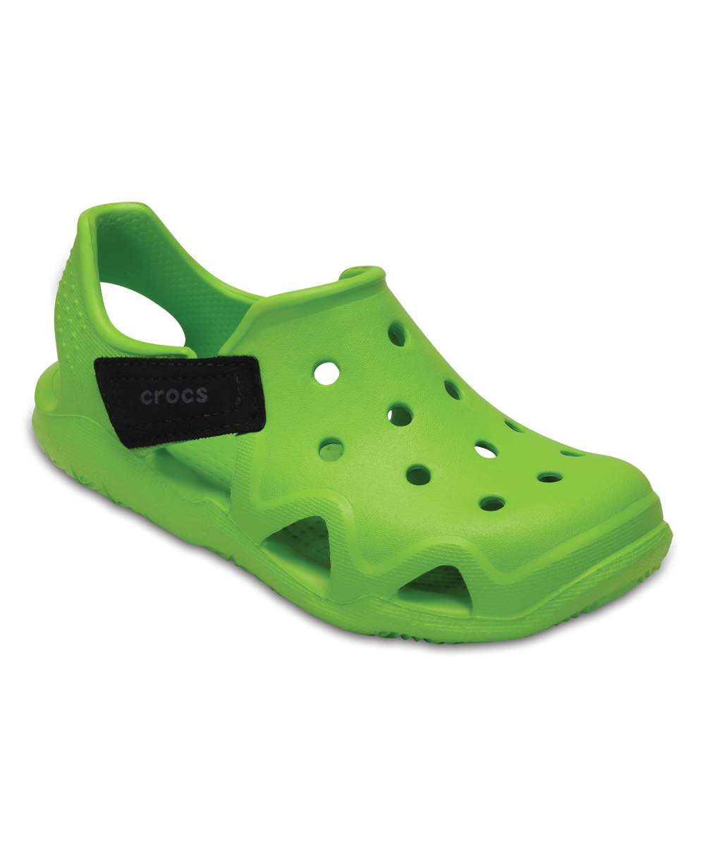 bfb866f75927 Crocs Volt Green Swiftwater Wave Water Shoe - Kids