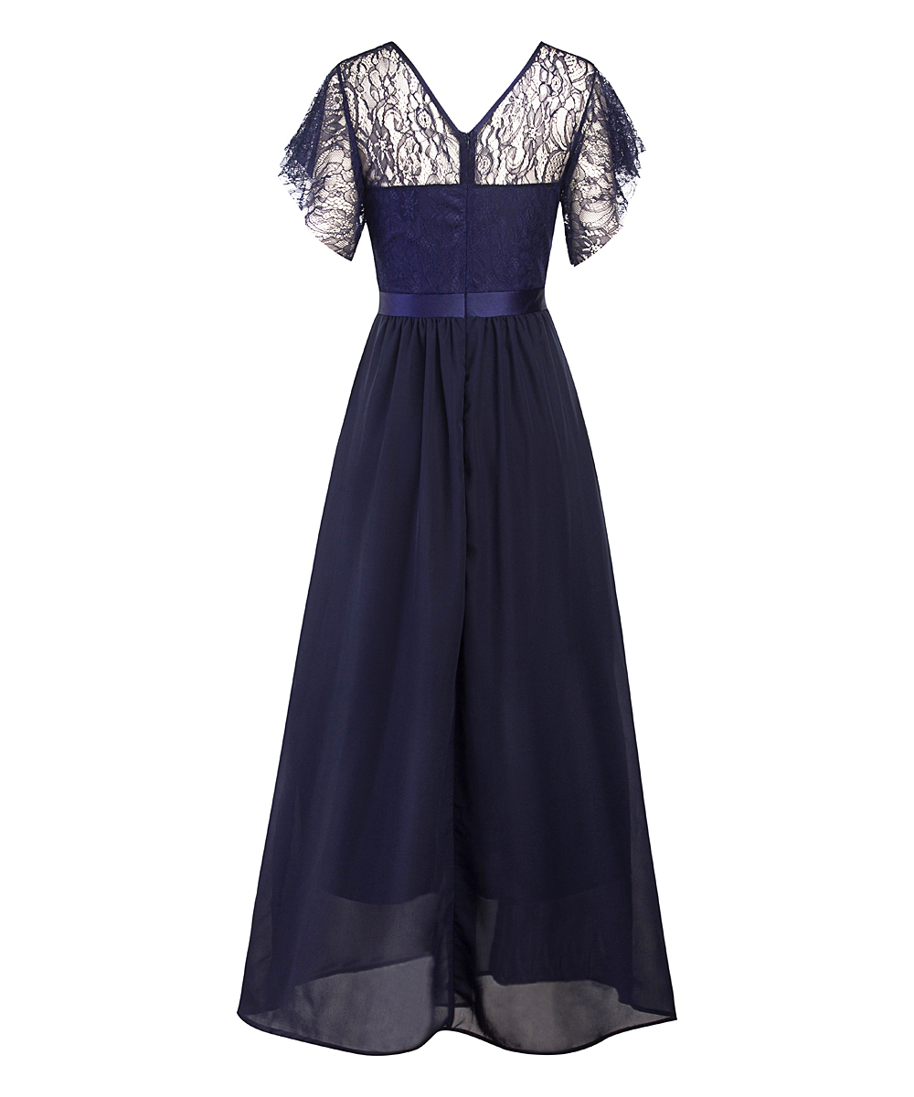 6f4fbd88183 love this product Navy Lace Belted Gown - Women