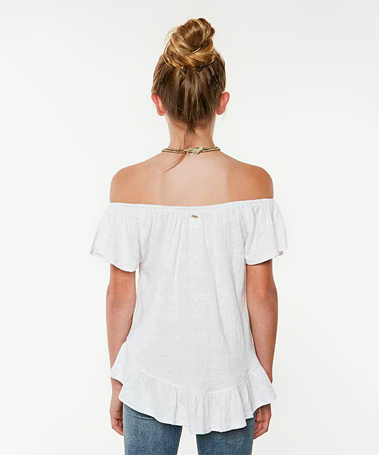 1c9703309a7 love this product White Farryn Off-Shoulder Top - Girls