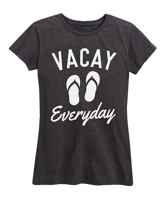 8e4f93b48 Instant Message Womens Heather Charcoal Vacay Everyday Relaxed-Fit ...