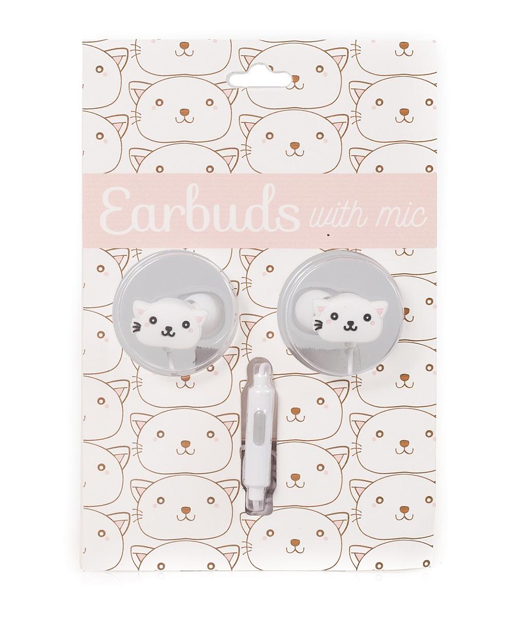 Gabba Goods  Wired Headphones Cat - Cat Microphone Earbuds