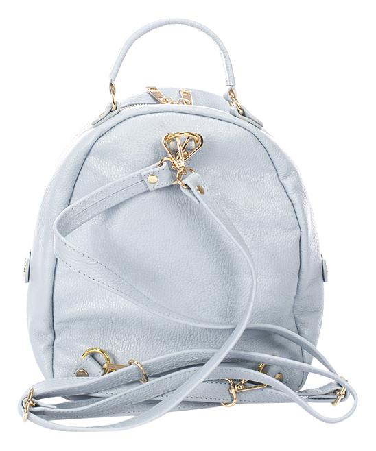 Giulia Massari Light Blue Round Leather Mini Backpack   Zulily 0f04ec3ea2