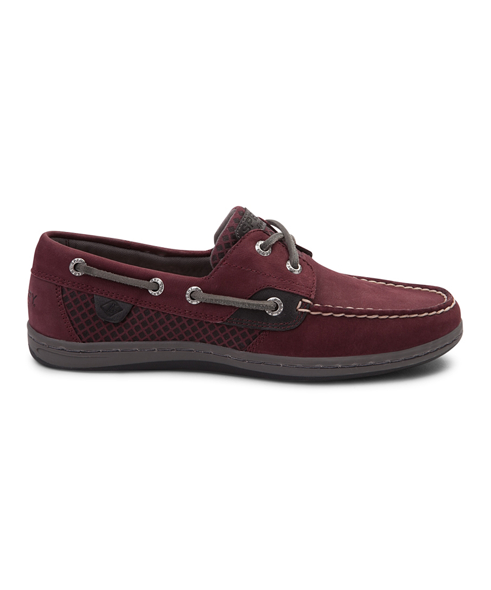 d5d9a221a1d15 Sperry Top-Sider Grape Koifish Leather Boat Shoe - Women | Zulily