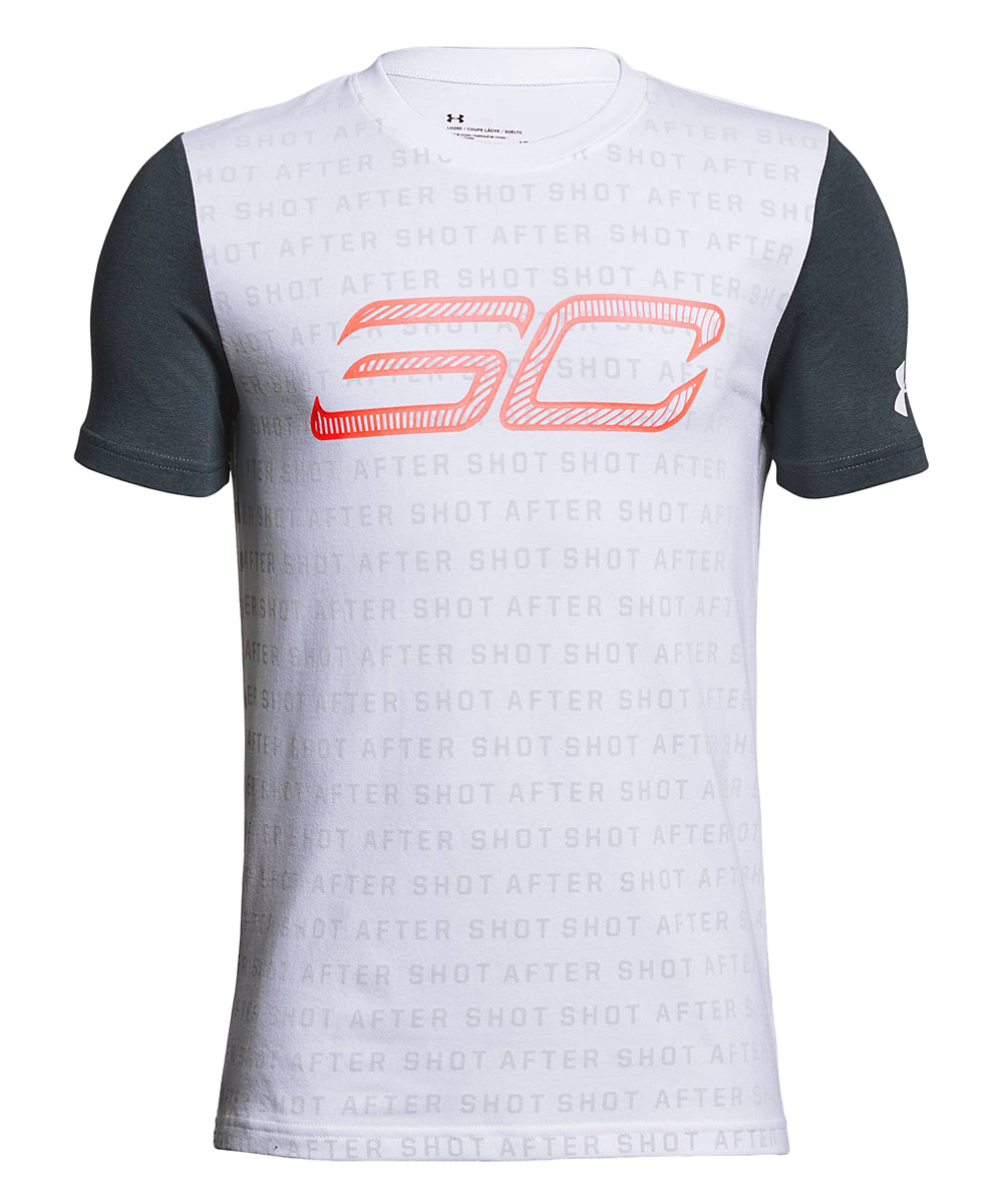 8023db254a Under Armour® White SC30 Reppin Shersey Short-Sleeve Tee - Boys