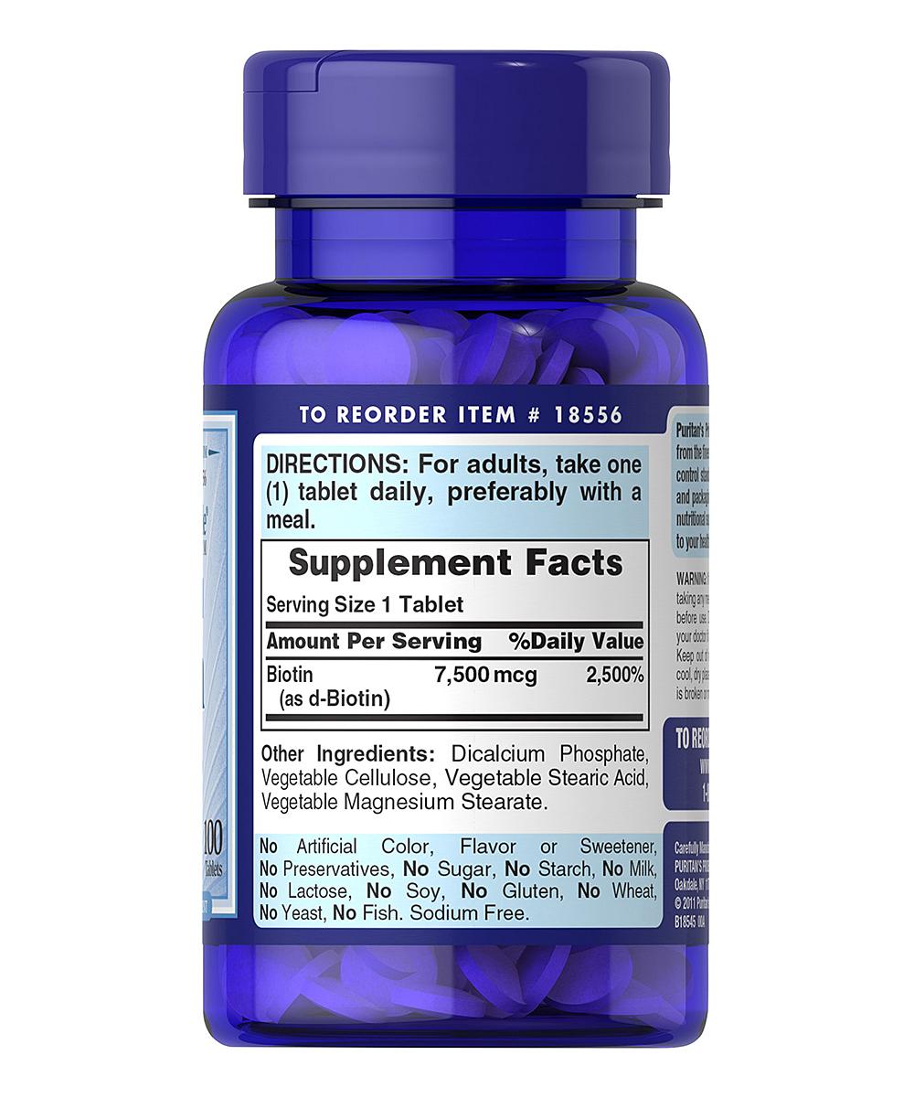 100-Ct. Biotin Dietary Supplement