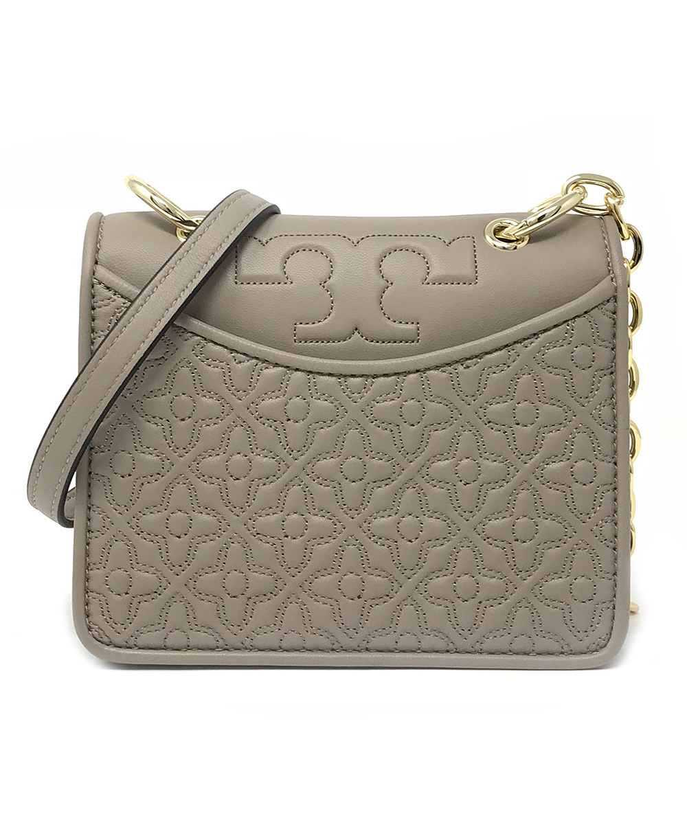 6a8f34158a Tory Burch French Gray Bryant Leather Mini Shoulder Bag | Zulily