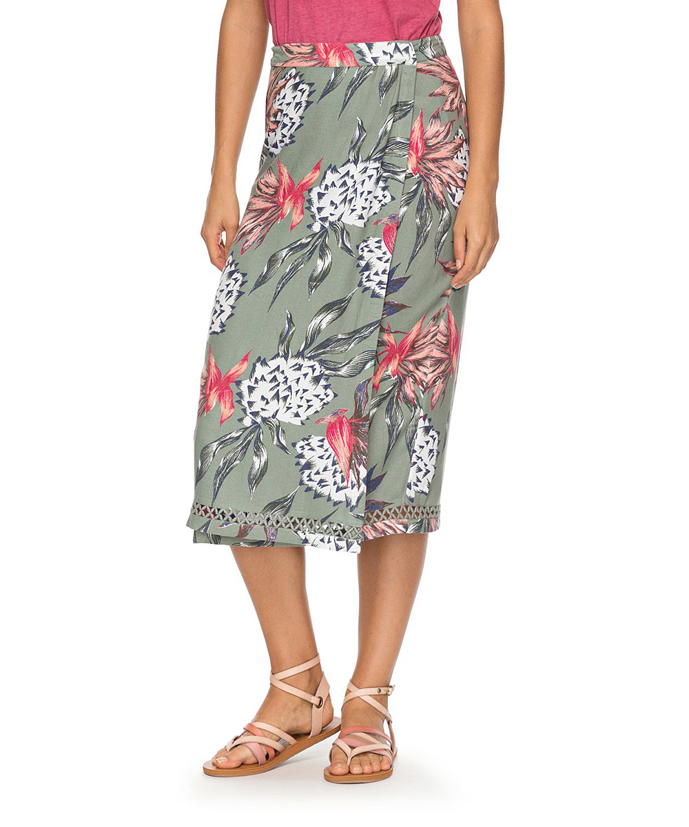 Olive House of the Sun Endless Valley Skirt - Juniors Olive House of the Sun Endless Valley Skirt - Juniors. The classic wrap skirt gets a summer-inspired refresh in this blossoming midi featuring crisscross-cutout inset detailing. 100% viscoseMachine washImported