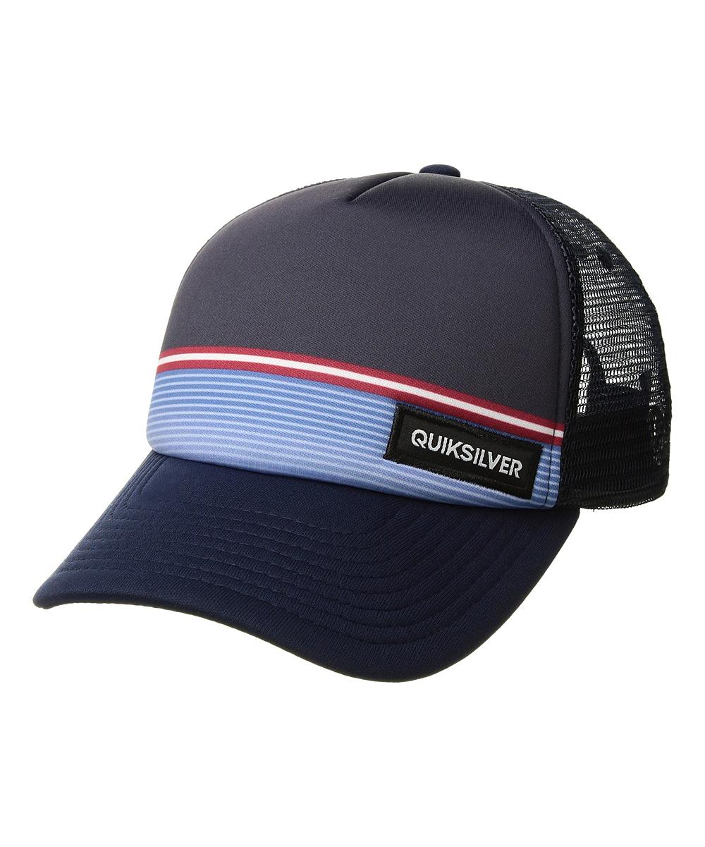 Quiksilver Navy Blazer Stripe Stare Trucker Hat  0415897dc80