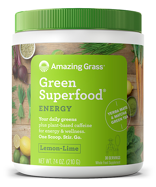 30-Serving Lemon Lime Energy Green SuperFood Powder