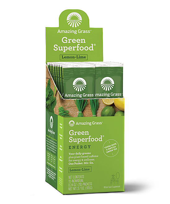 15-Ct. Energy Lemon Lime Green On The Go SuperFood Packets