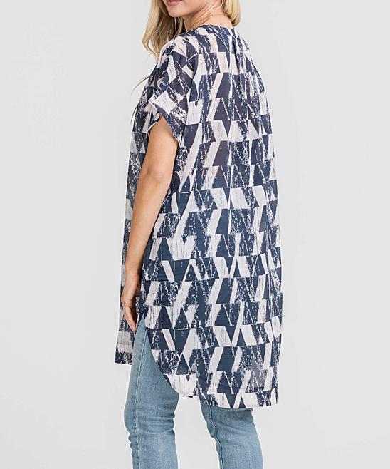 9f30f2f1c20 LUSH Clothing Taupe   Navy Tunic - Women
