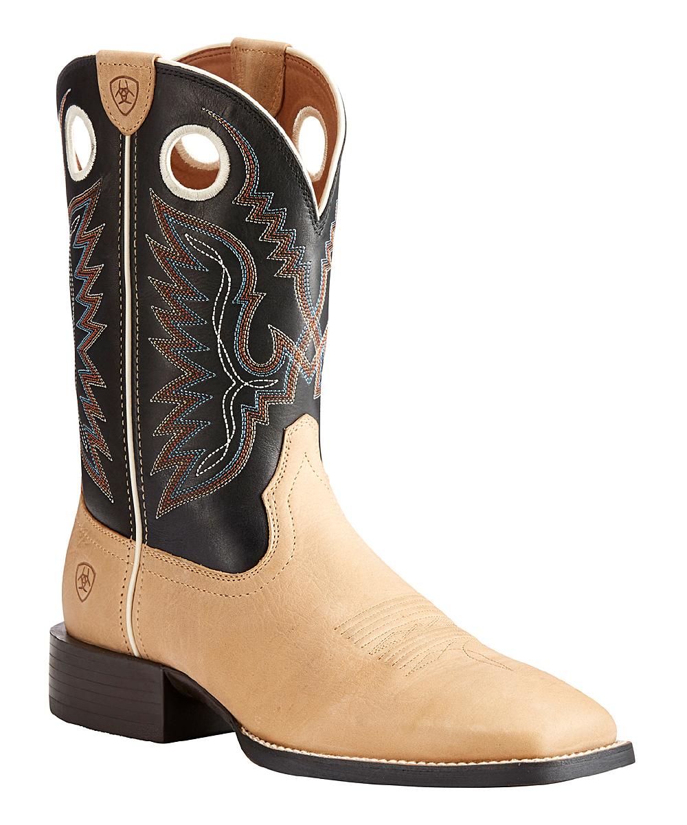 Cowboy Men Ariat Beigeamp; Black Ranger Leather Boot Limousine 13'' Sport mOyN8vn0w