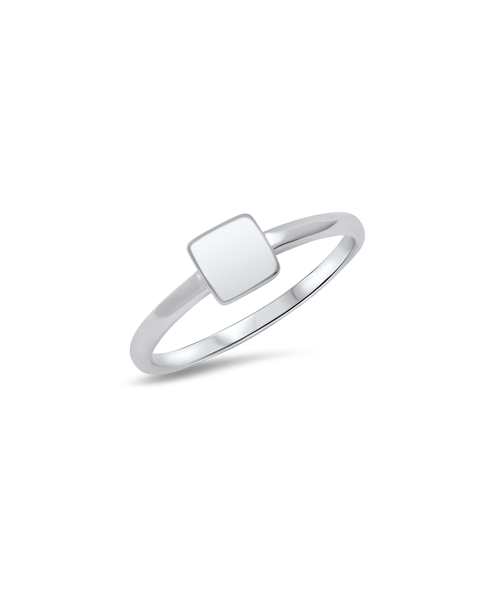 Best Silver Women's Rings  - Sterling Silver Square Ring