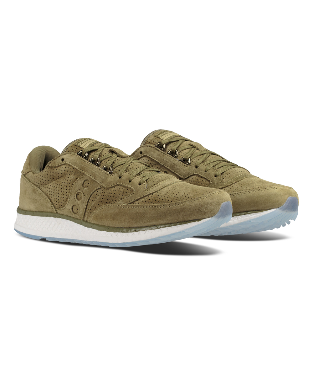 76ff49769fb4 Saucony Green Freedom Runner Suede Running Shoe - Men