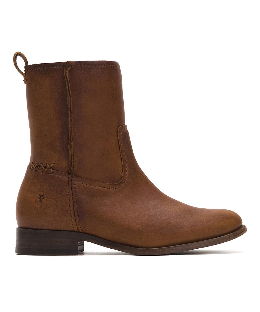10db041d2b3 Frye Cognac Cara Short Leather Boot - Women